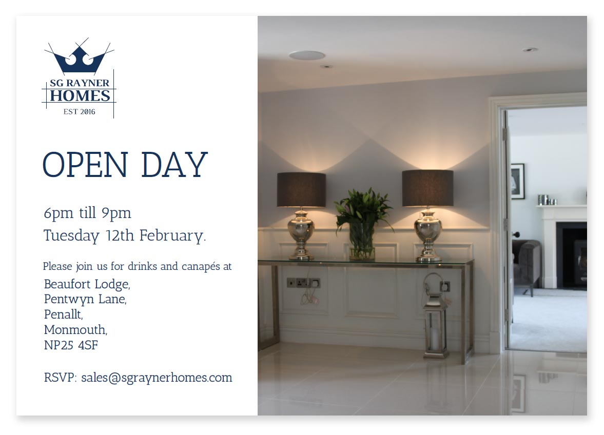 SG Rayner Homes, Open Evening 12th February 2019