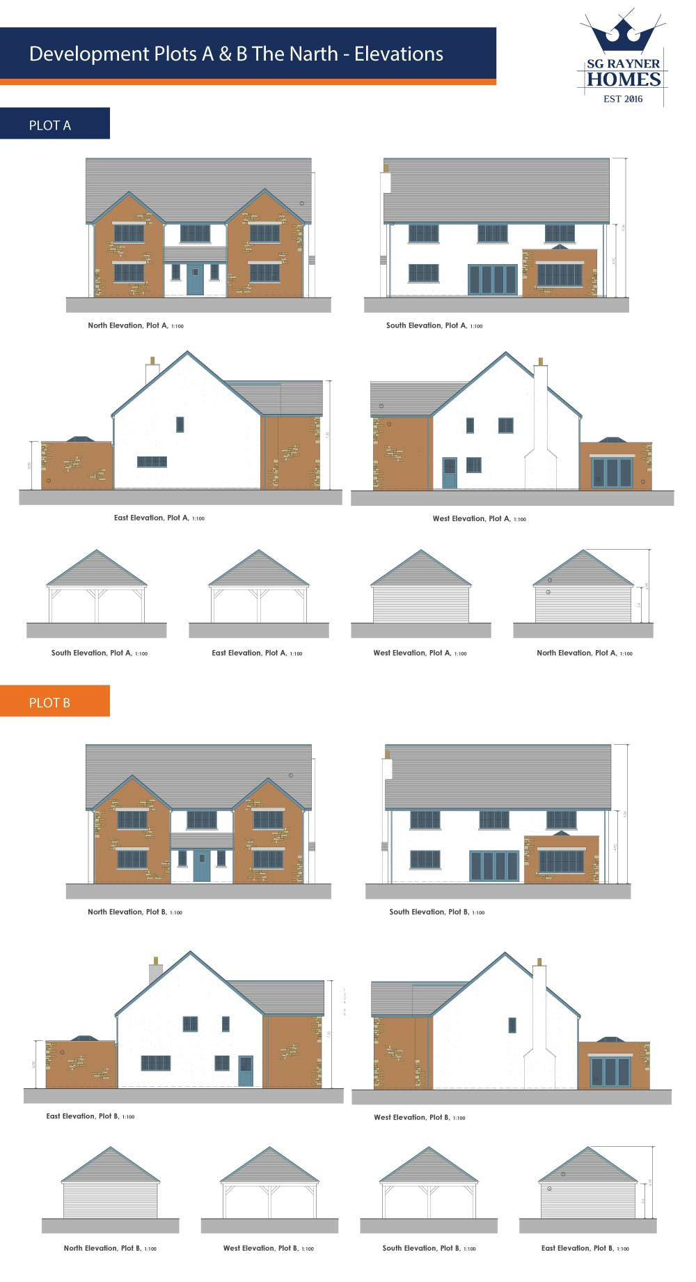 SG Rayner Homes - The Narth Elevations