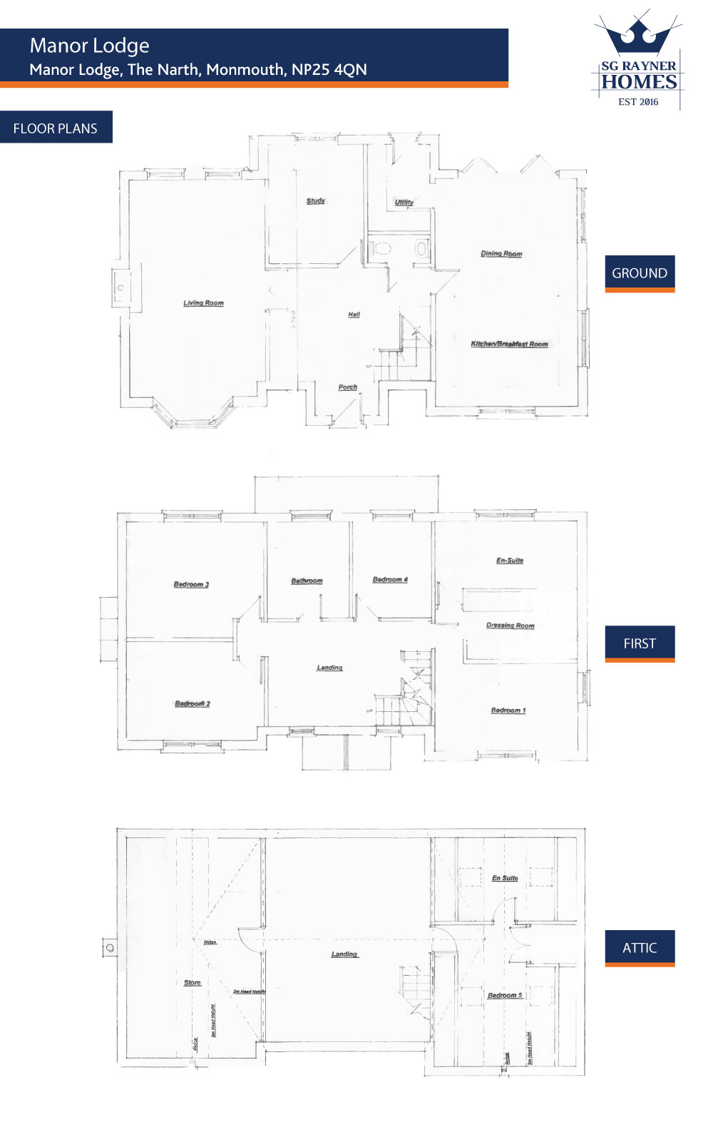 SG Rayner Homes - Manor Lodge Floor Plans