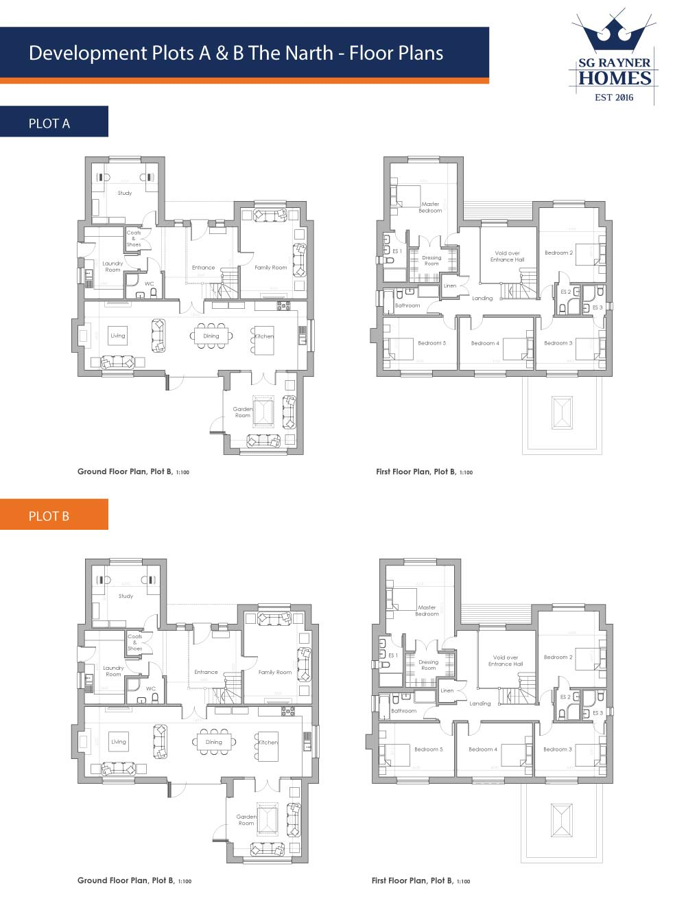 SG Rayner Homes - The Narth Floor Plans