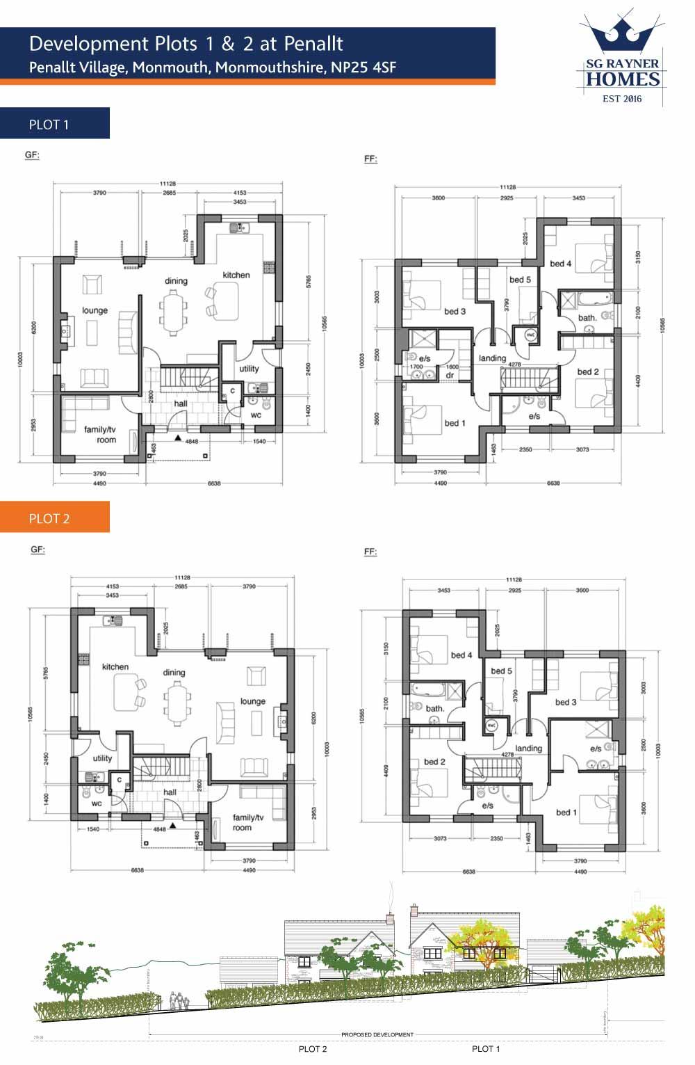 The Penallt Development - Plot Floor Plans