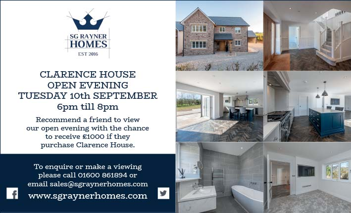 Clarence House Open Evening, 10th September 2019, SG Rayner Homes
