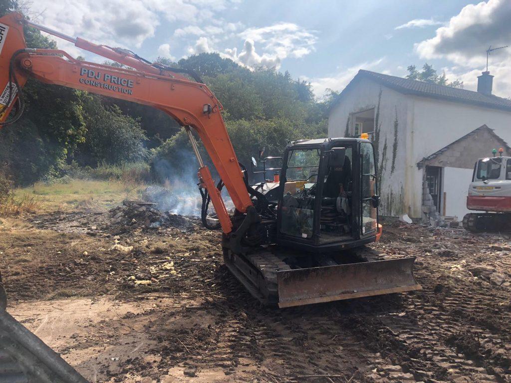 SG Rayner Homes - Thorneycroft development machinery breaking ground