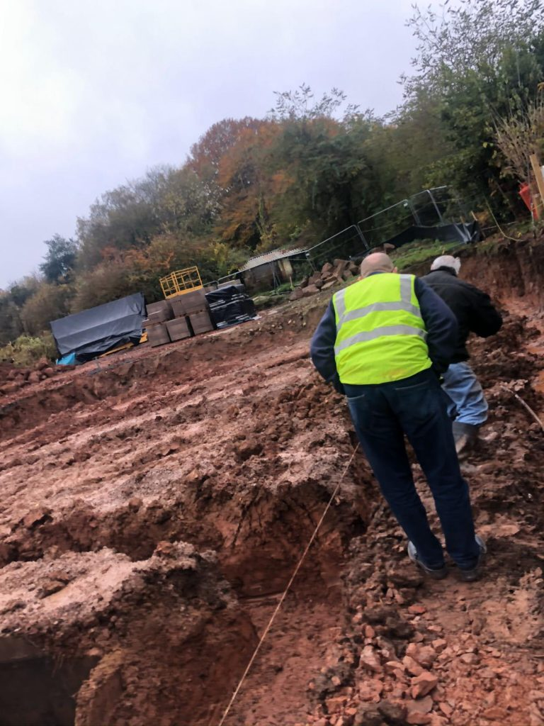SG Rayner Homes - Thorneycroft development digging the foundations
